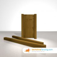 Designer Wooden Gate Posts UC4 Pointed Top 150mm x 150mm x 2700mm brown