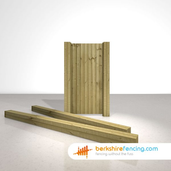 Exclusive Wooden Gate Posts UC4 Pointed Top 150mm x 150mm x 3000mm natural