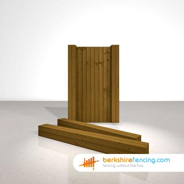 Designer Wooden Gate Posts UC4 Pointed Top 175mm x 175mm x 1800mm brown