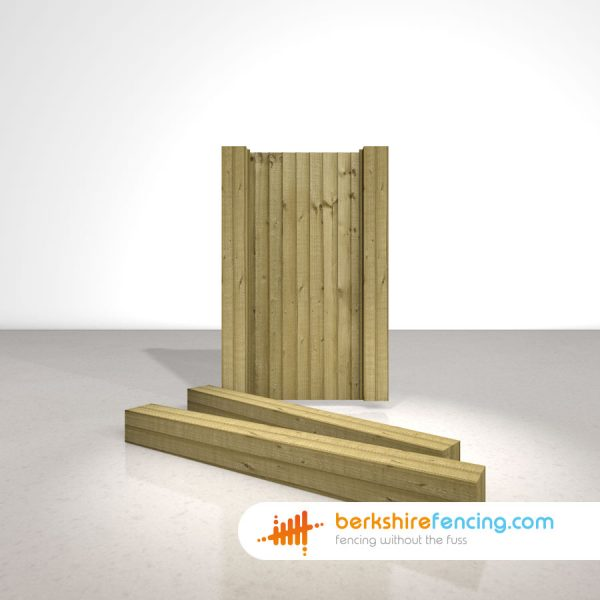 Wooden Gate Posts UC4 Pointed Top 180cm x 17.5cm x 17.5cm natural