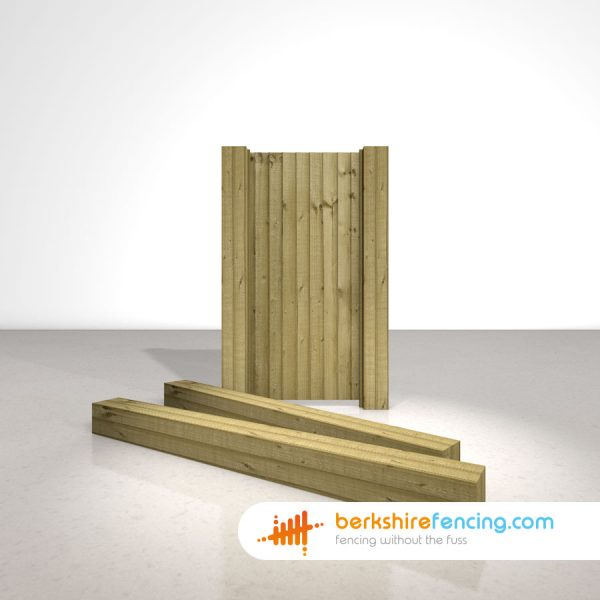 Garden Wooden Gate Posts UC4 Pointed Top 175mm x 175mm x 2100mm natural