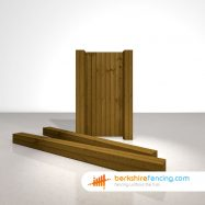 Exclusive Wooden Gate Posts UC4 Pointed Top 175mm x 175mm x 2700mm brown