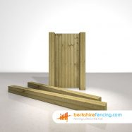 Exclusive Wooden Gate Posts UC4 Pointed Top 175mm x 175mm x 2700mm natural