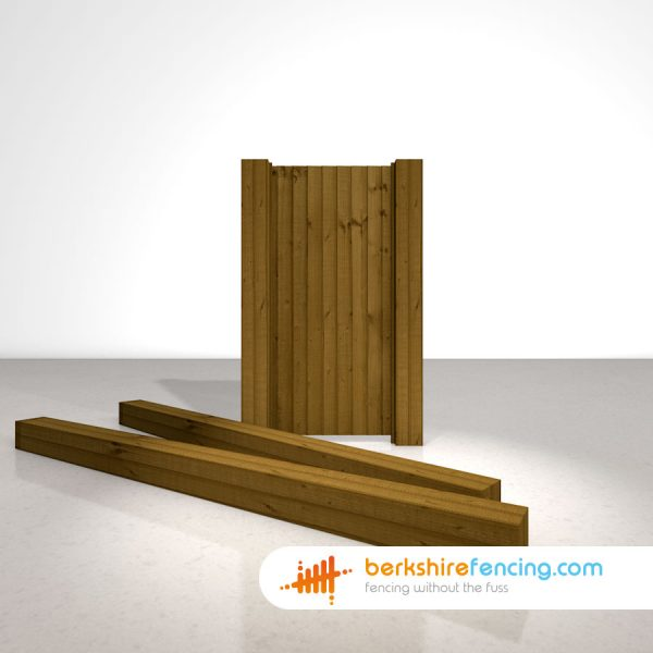 Garden Wooden Gate Posts UC4 Pointed Top 175mm x 175mm x 3000mm brown
