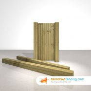 Wooden Gate Posts UC4 Pointed Top 300cm x 17.5cm x 17.5cm natural